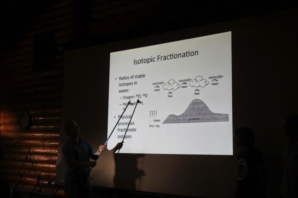 Tristan killin' his presentation (Photo: Laurissa Christie).
