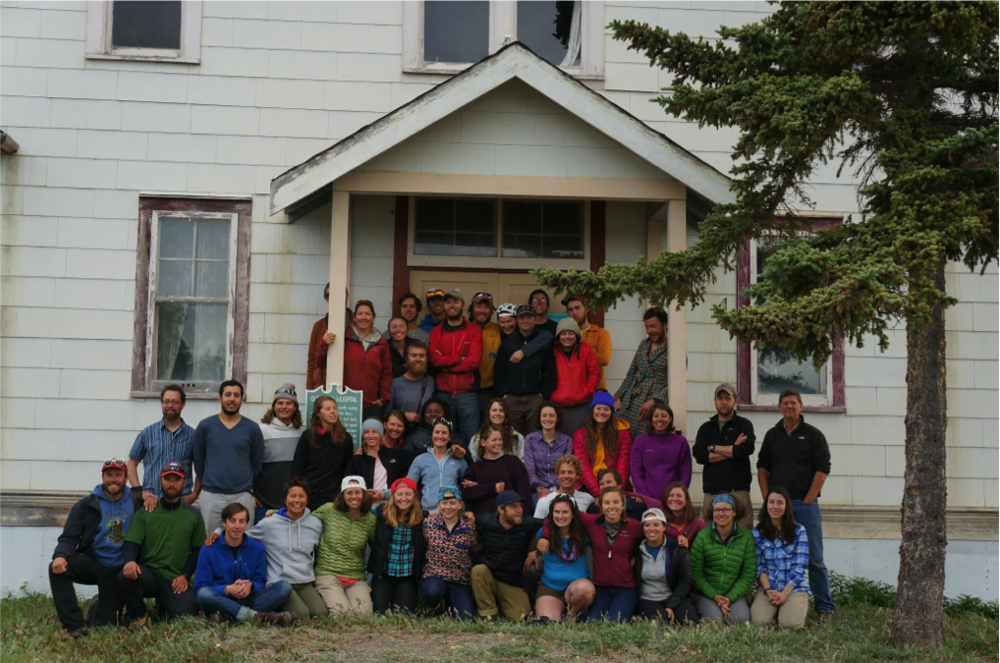 Everyone joins the group photo before leaving Atlin (Photo: Alex Mischler)
