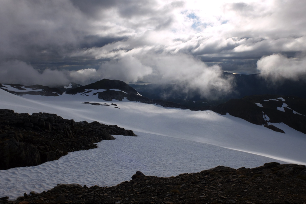 Ptarmigan Glacier from Camp 17. Photo by author.