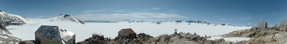 Panorama of Camp 10. Photo by author