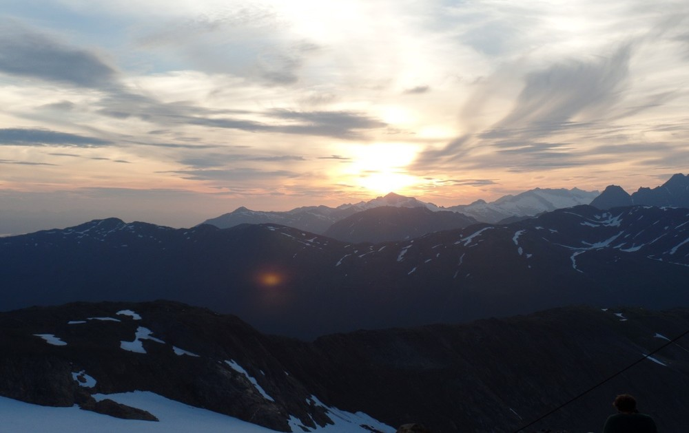 Sunset view looking westward from Camp 17. Photo by author.