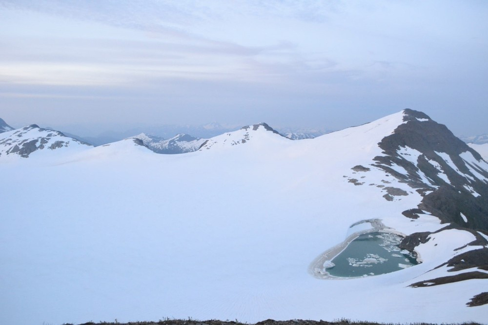 Lake Linda on the Lemon Creek glacier, mid-drainage. Photo by Joel Wilner.