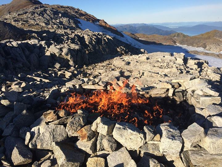 The burn pit at Camp 17. Photo by Deb Gregoire.