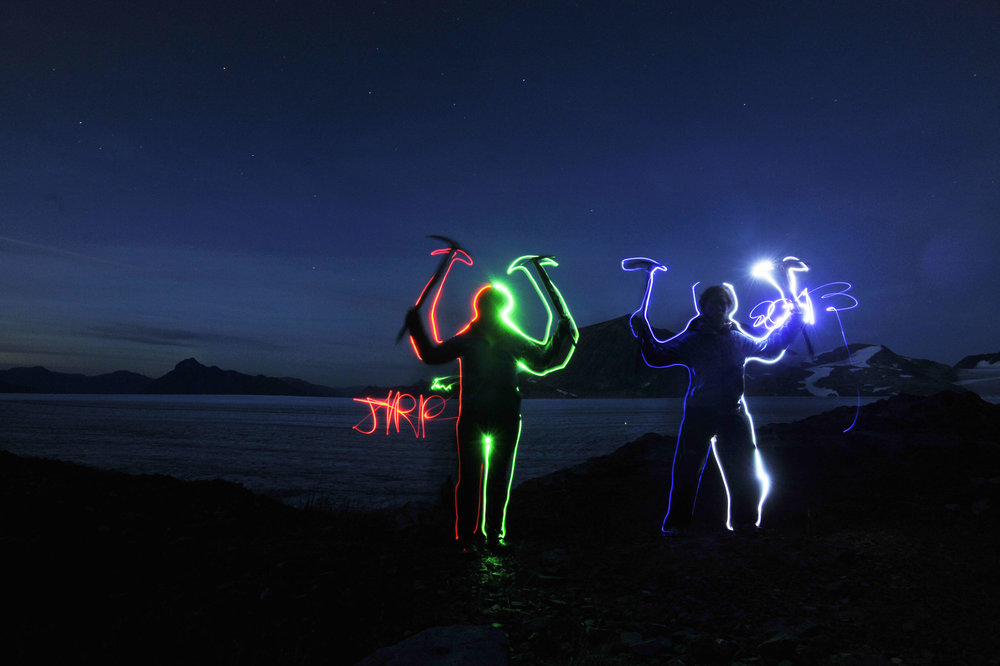 Light photography at our research facility outside of Atlin, BC. Photo by Jeffrey Barbee.