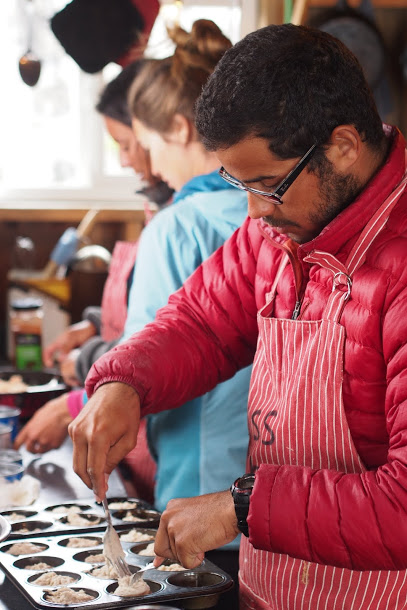Victor Cabrera pitching in on cook duty. Every student and researcher on the program rotates through various camp tasks and chores. The students are learning why it is important to be apart of a team on an expedition. Photo by Dr. Allen Pope.