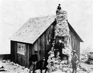 John Muir and Reid's team at the Muir cabin in Glacier bay, 1890. Source: National Park Service