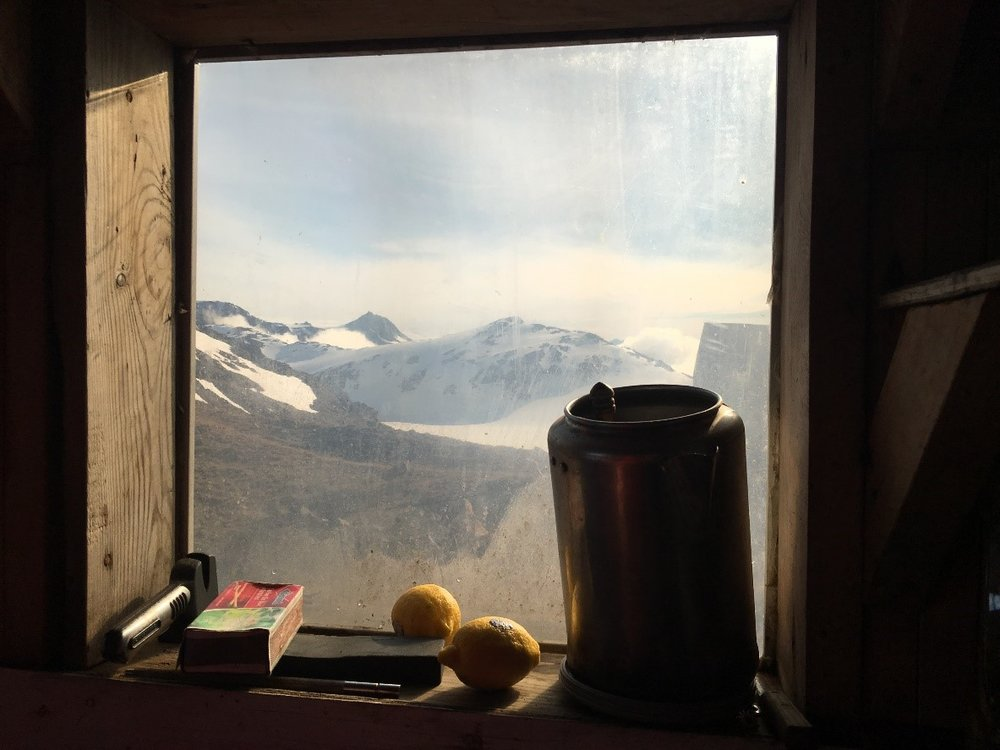 Window above stove of cook shack, Camp 17. Photo credit: Crystal Yong