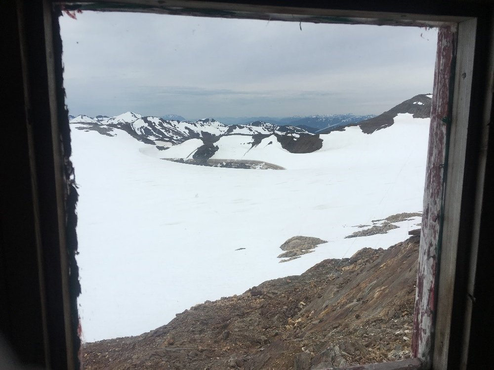 Double Wide outhouse window, Camp 17. Photo credit: Crystal Yong