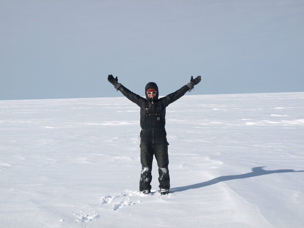 Kiya in her happy place: the middle of the West Antarctic Ice Sheet.