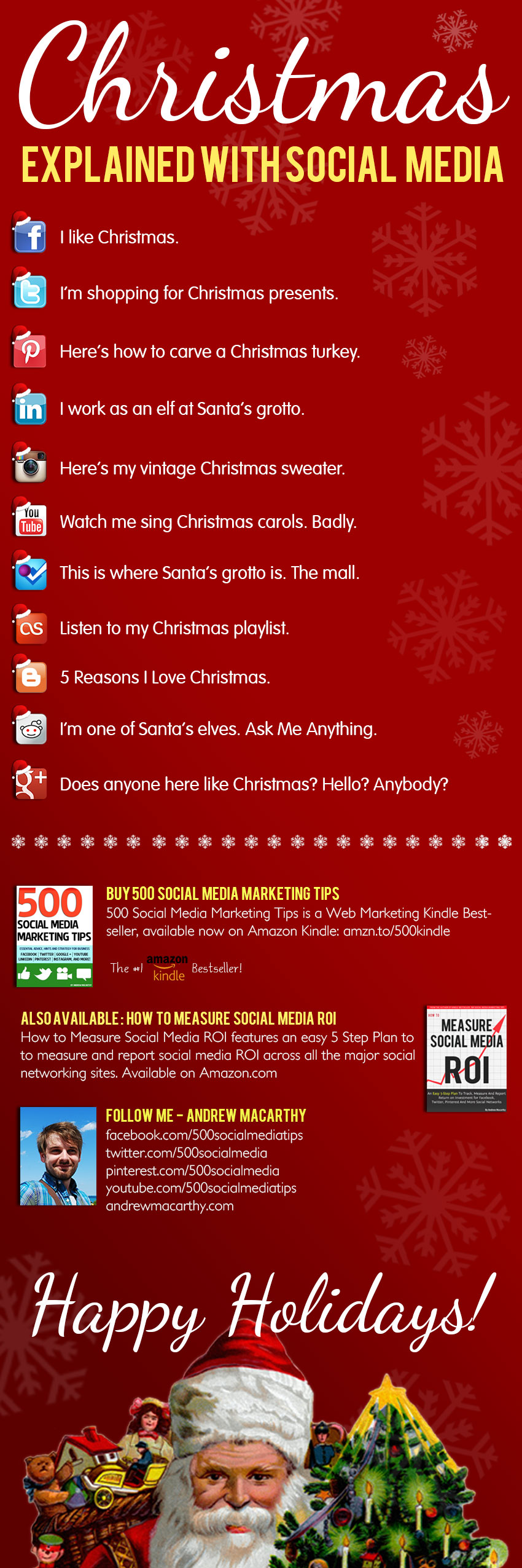 Christmas Explained With Social Media [INFOGRAPHIC]