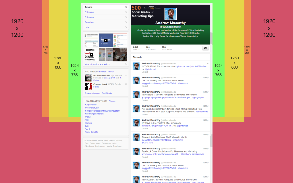Twitter template for photoshop screenshot inlinevision: web.
