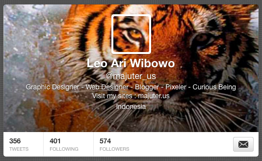 how to create a seamless twitter header background and profile image