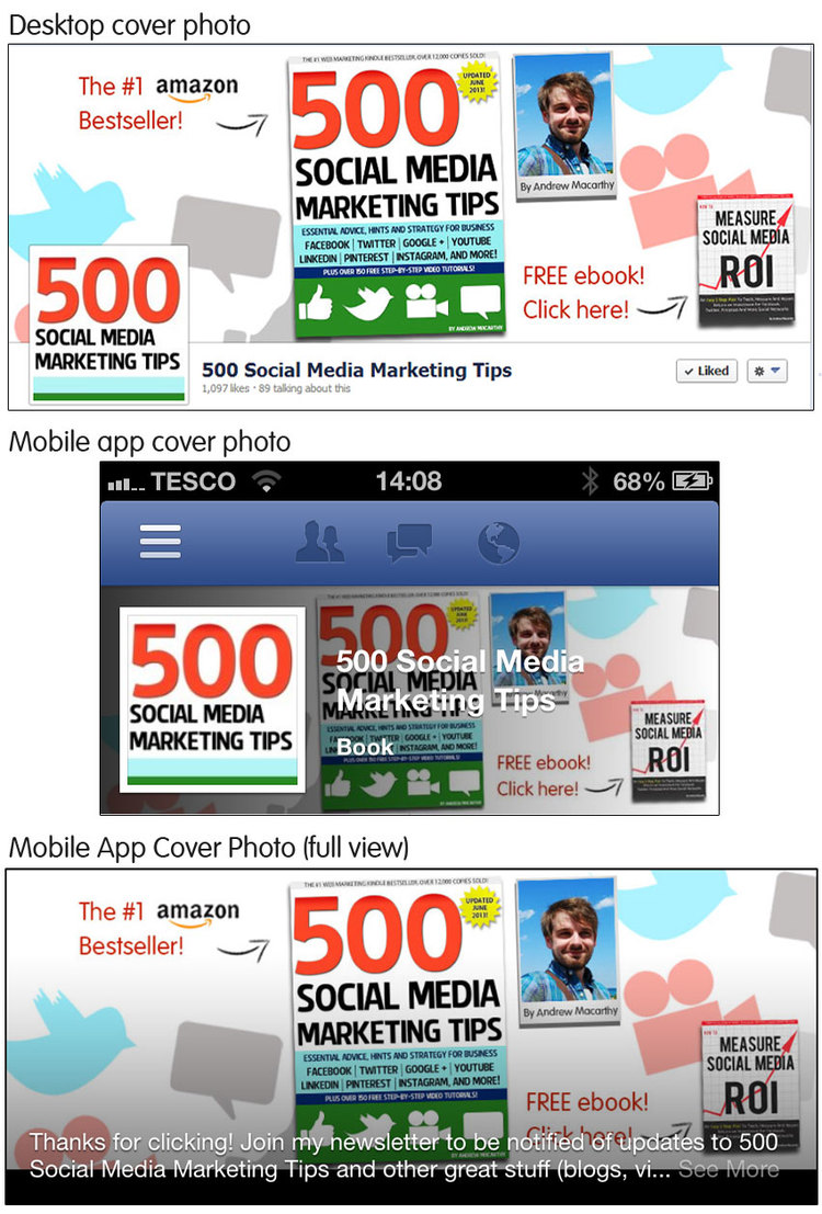 Facebook Cover And Profile Photo Template For Desktop And Mobile App