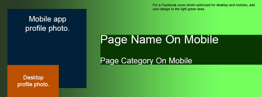 facebook cover and profile photo template for desktop and mobile