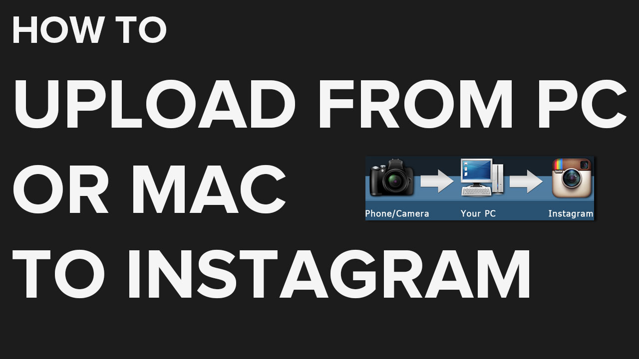 How to Upload to Instagram from PC or Mac | DSLR to