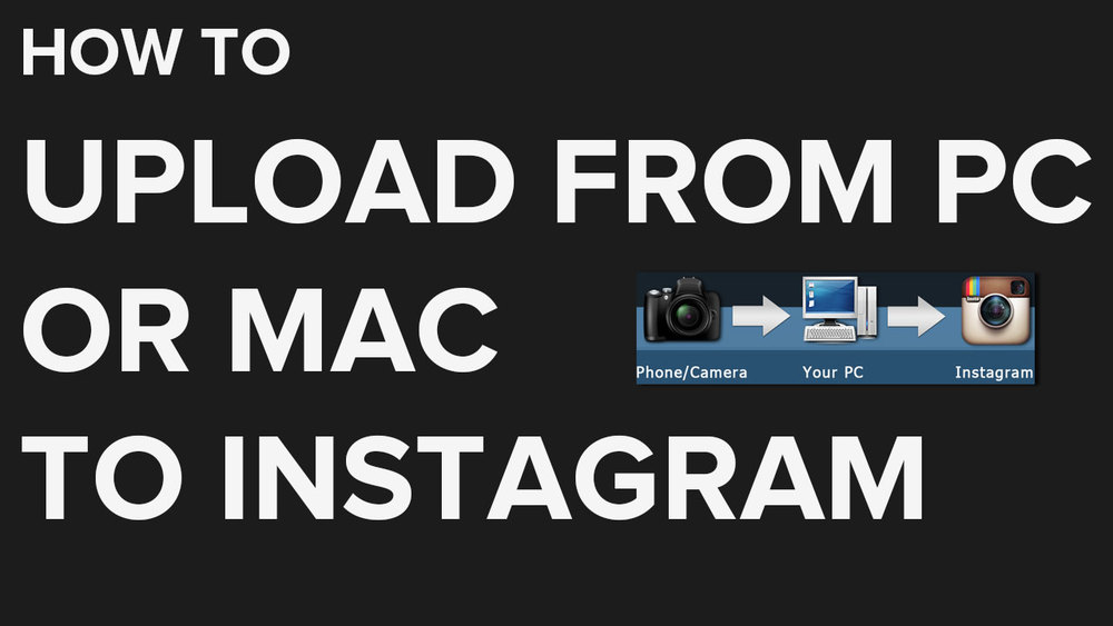 how to upload to instagram from pc or mac dslr to