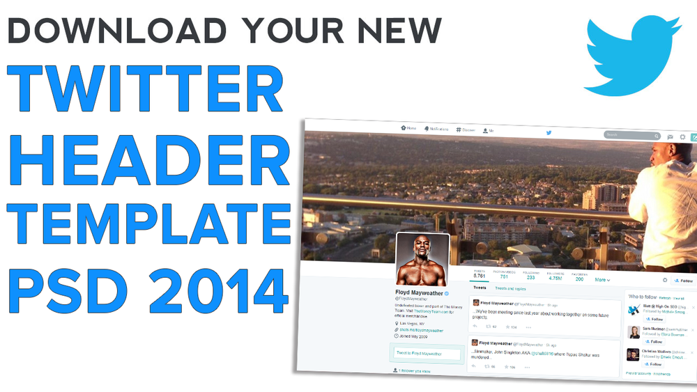 Twitter Header Image Template PSD | 1920 x 1200 Photoshop (New ...