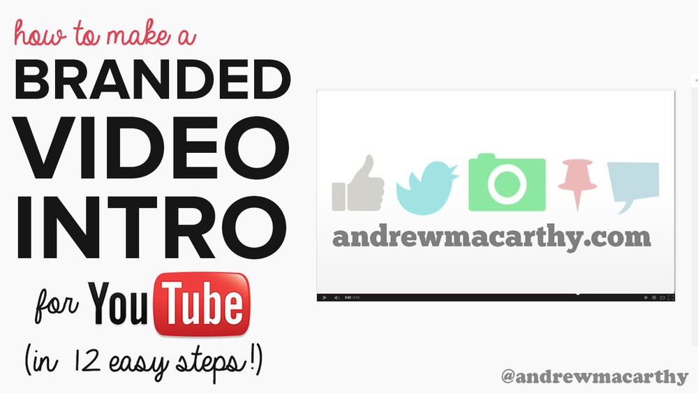 How to Make A YouTube Video Intro for Free | Branded YouTube Video Intro Tutorial