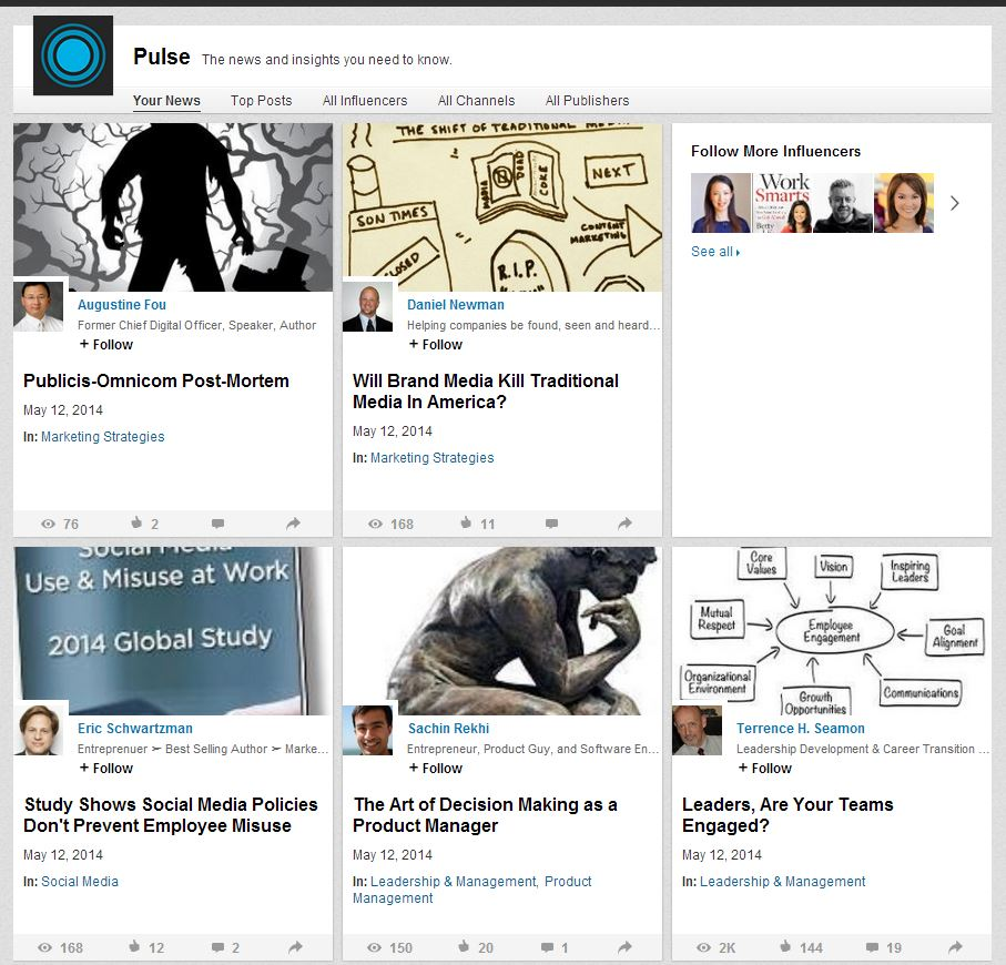 how to find a personals post in linkedin