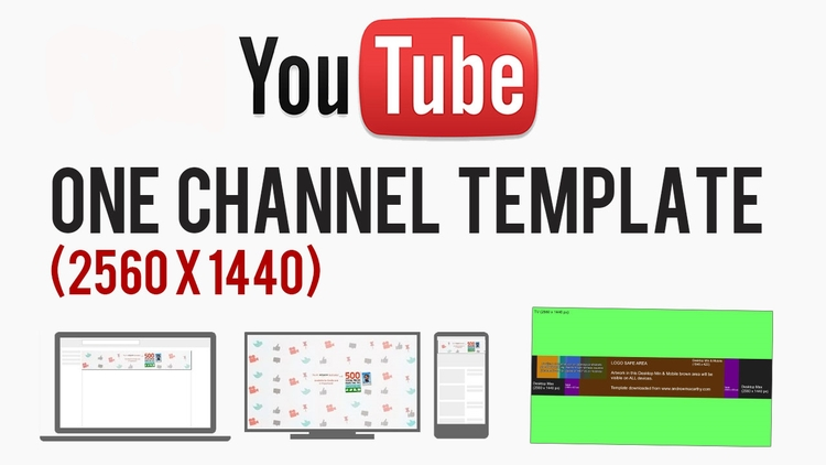 YouTube Cover Art Template PSD | 2560 x 1440 Photoshop, GIMP ...