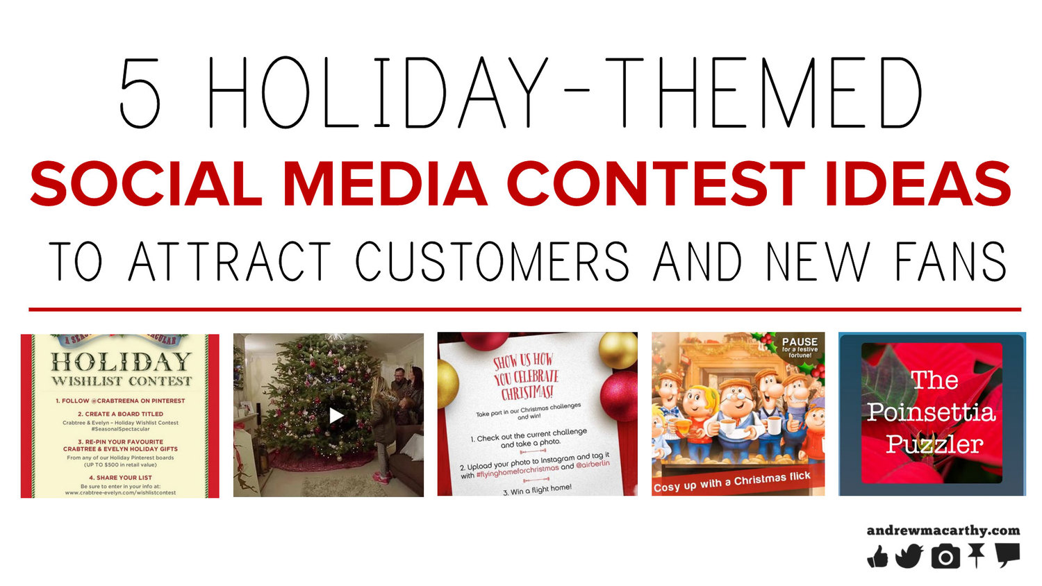 5 holiday-themed social media contest ideas to attract customers