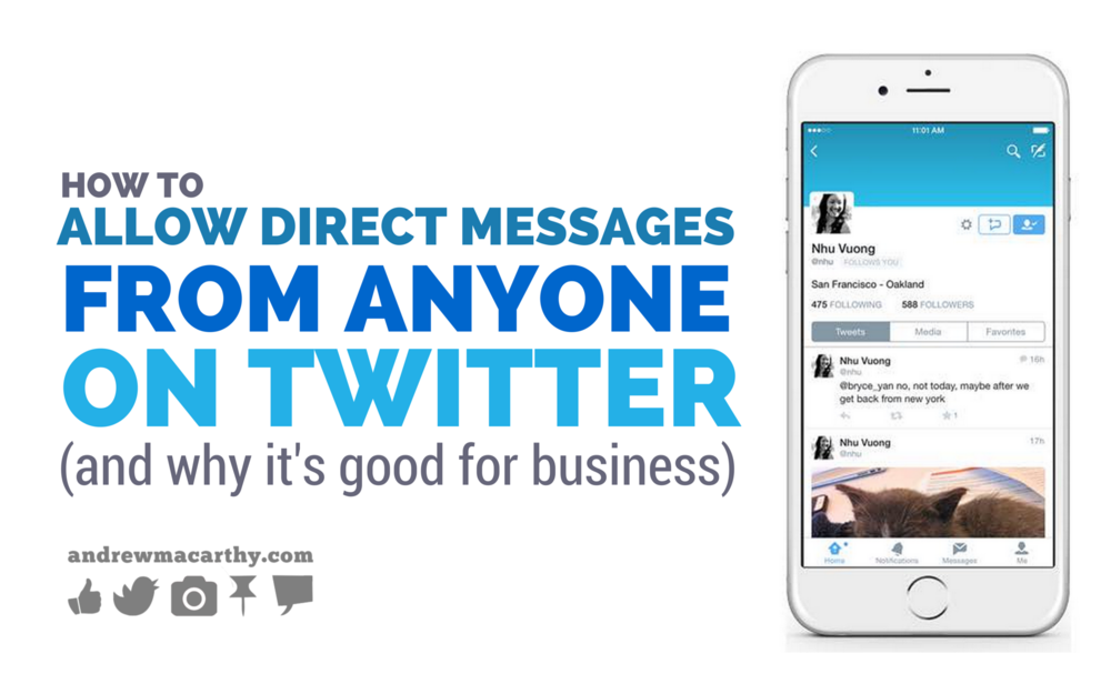 How to Allow Direct Messages (DMs) from Anyone on Twitter (And Why it's Good For Business)