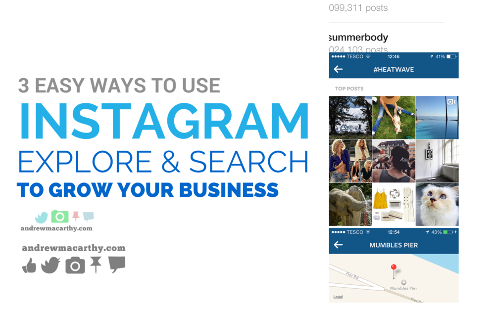 3  Easy Ways to Use New Instagram Explore and Search to Grow Your Business