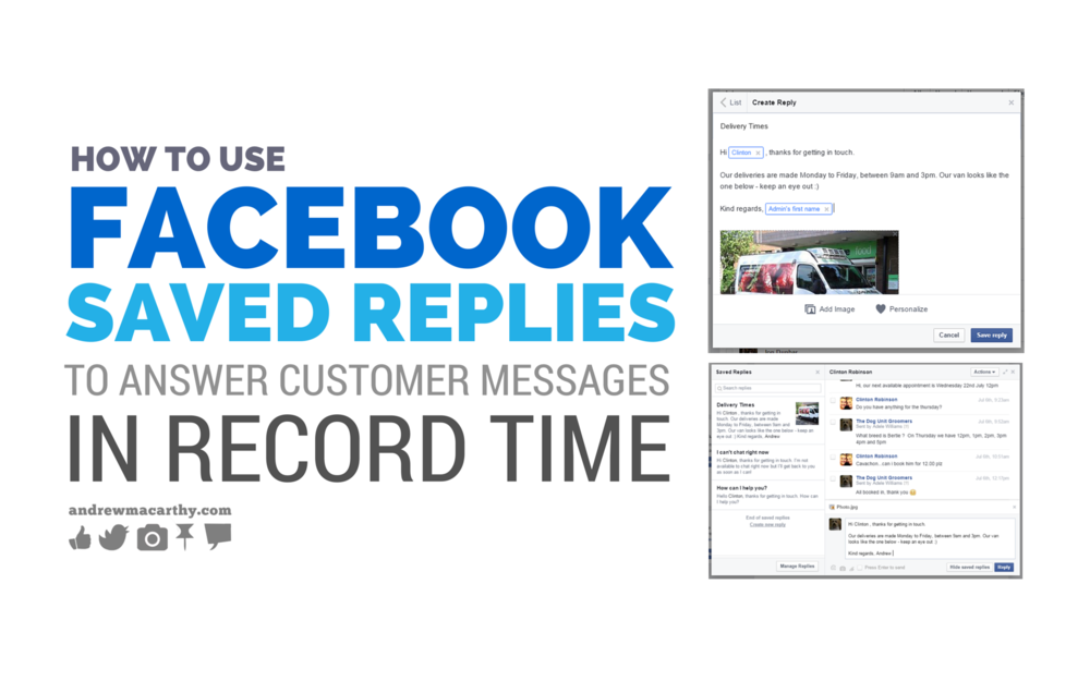 How to Use Facebook Saved Replies to Answer Customer Messages in Record Time