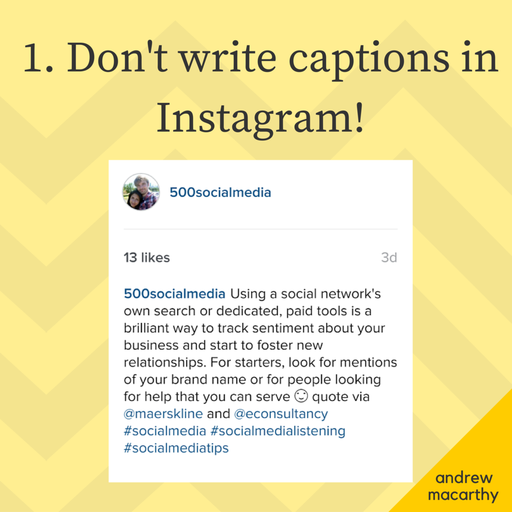 instagram write a caption on a picture