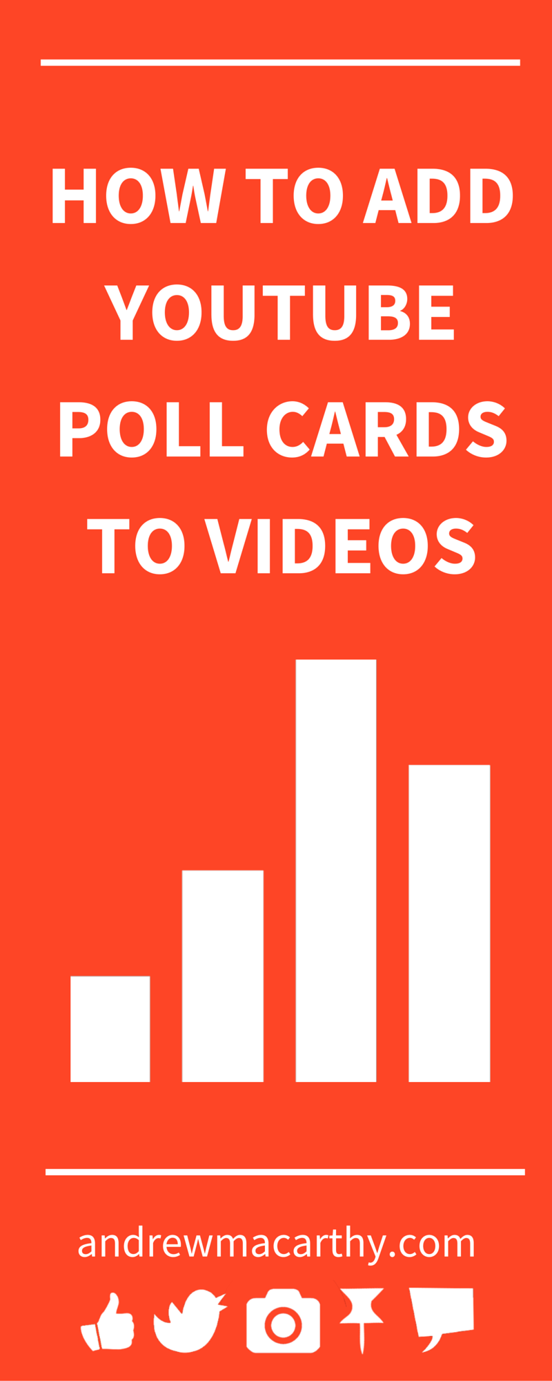 How to Add YouTube Poll Cards to Videos (And Everything Else You Need to Know). Would you like to poll your YouTube viewers? Want to find out what they think of your videos or products? You need the YouTube Poll Card!