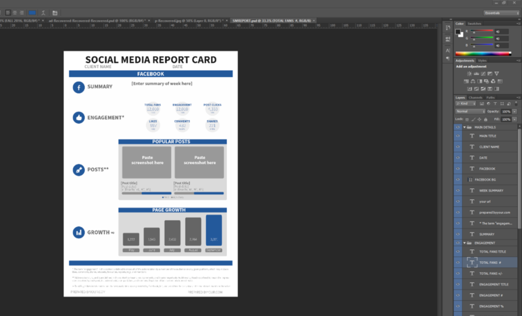 use this free social media report card template to wow your boss and