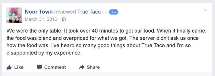 examples of good reviews for business