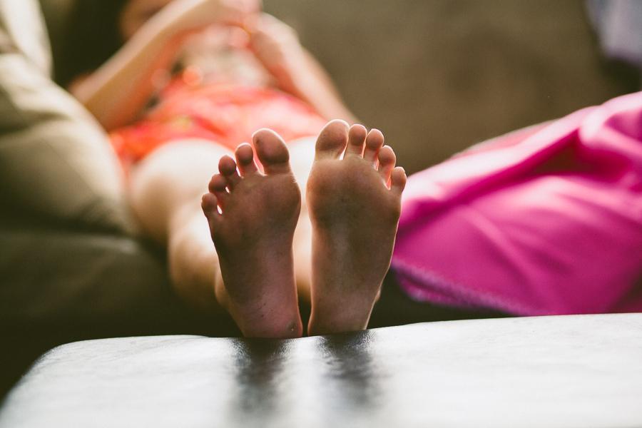 4:30PM - summer ain't summer unless you've got dirty feet.