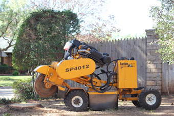 The Carlton 4012 Diesel, our most powerful stump grinder.