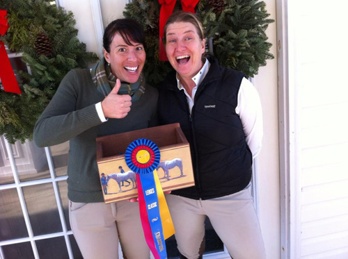 A very excited Vanessa and Nikki for Milo getting Champion in the baby greens.