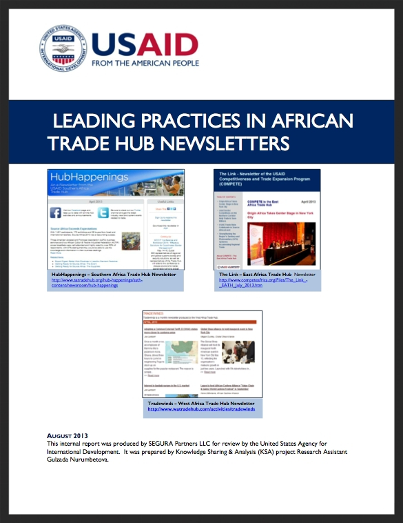 Leading Practices in African Trade Hub Newsletters