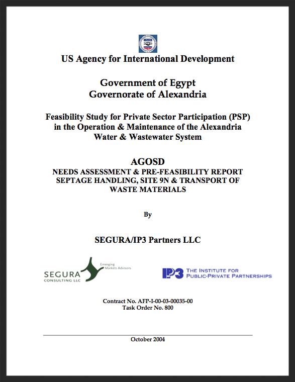 Alexandria | AGOSD Needs Assessment & Pre-feasibility