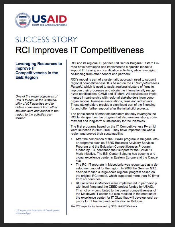 RCI Success Stories: Improves IT Competitiveness