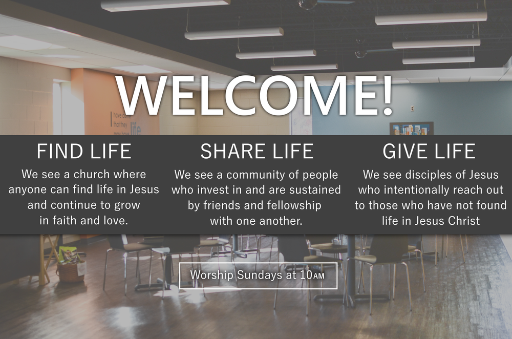 Waite Park Church in NE Minneapolis welcomes you to find life, share life, and give life