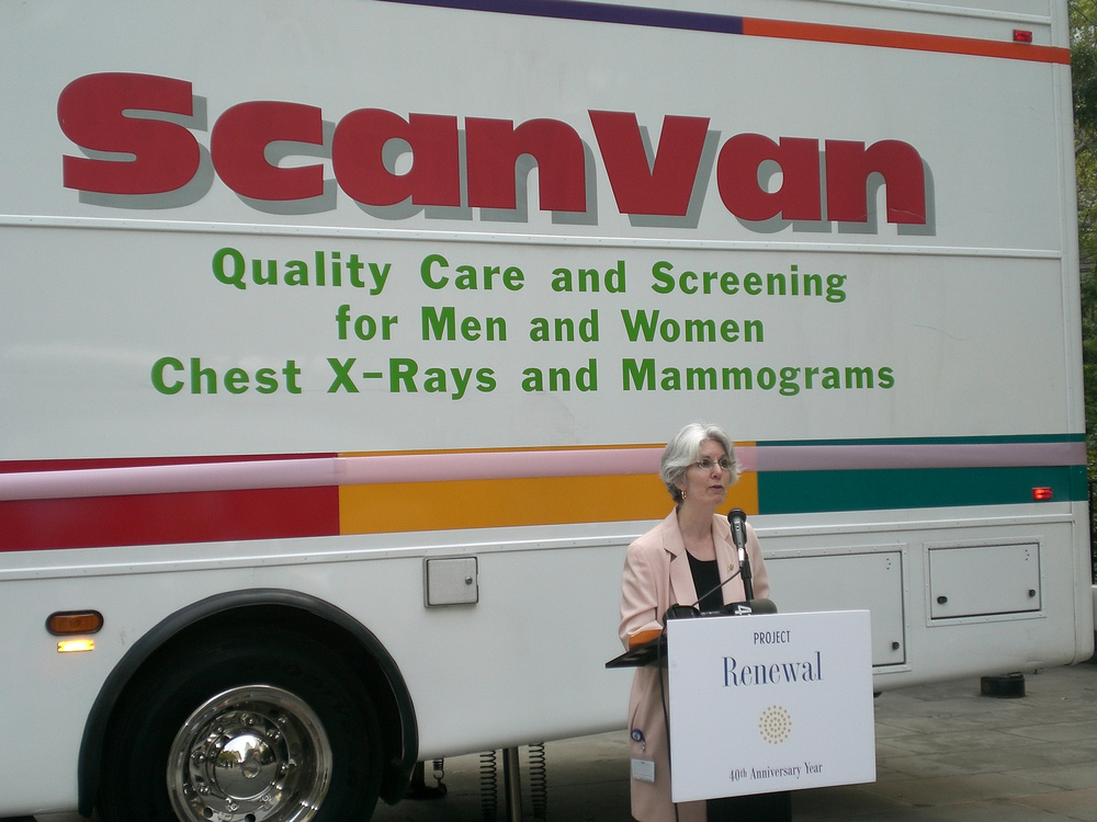 In 2007, the ScanVan becomes the nation's first mobile mammography clinic
