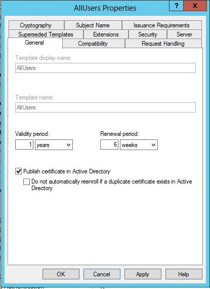 Configuring active directory certificate services and auto there is an option on certificate templates to publish certificates in ad once they have been generated obviously this will only publish your public yelopaper