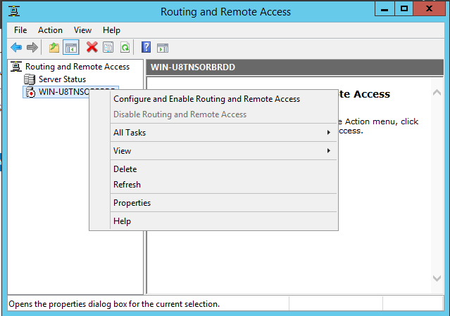 Routing and Remote Access 1 Instance
