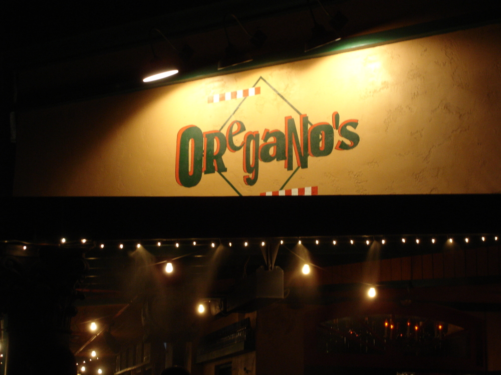 At Oregano's Restaurant in Arizona