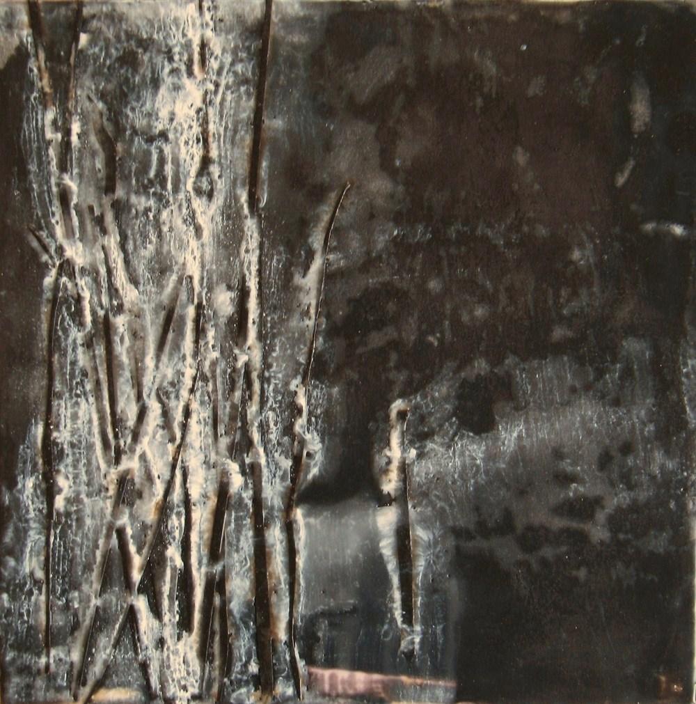 Frozen,2009 / Encaustic on wood panel, 10 x 10/ Sold