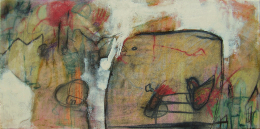 What You Don't Know, 2009 / Encaustic on canvas on wood panel, 12 x 24