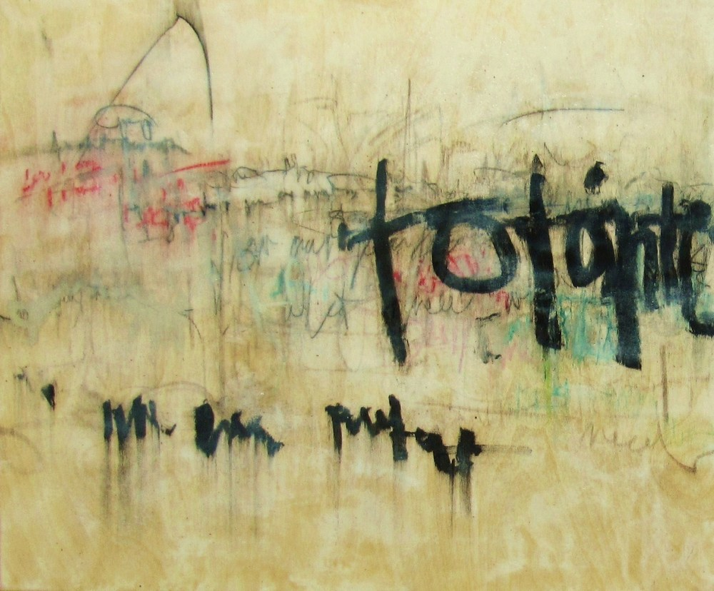 Words Limit 2, 2008 / Encaustic on wood panel, 20 x 24, (diptych 20 x 48)