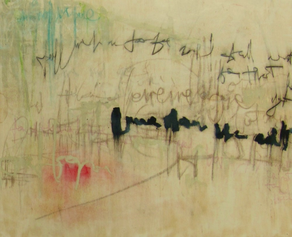 Words Limit 1, 2008 / Encaustic on wood panel, 20 x 24, (diptych 20 x 48)