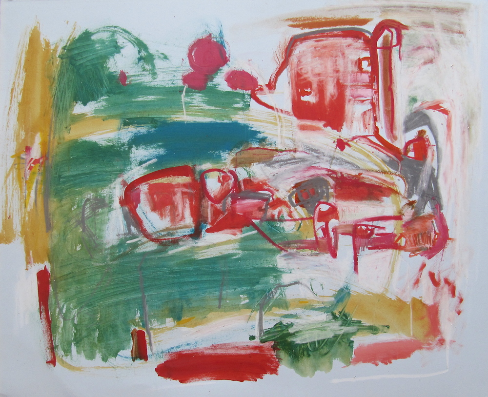 Passage, 2012  /  Mixed media on paper (unmounted and unframed), 18 x 22