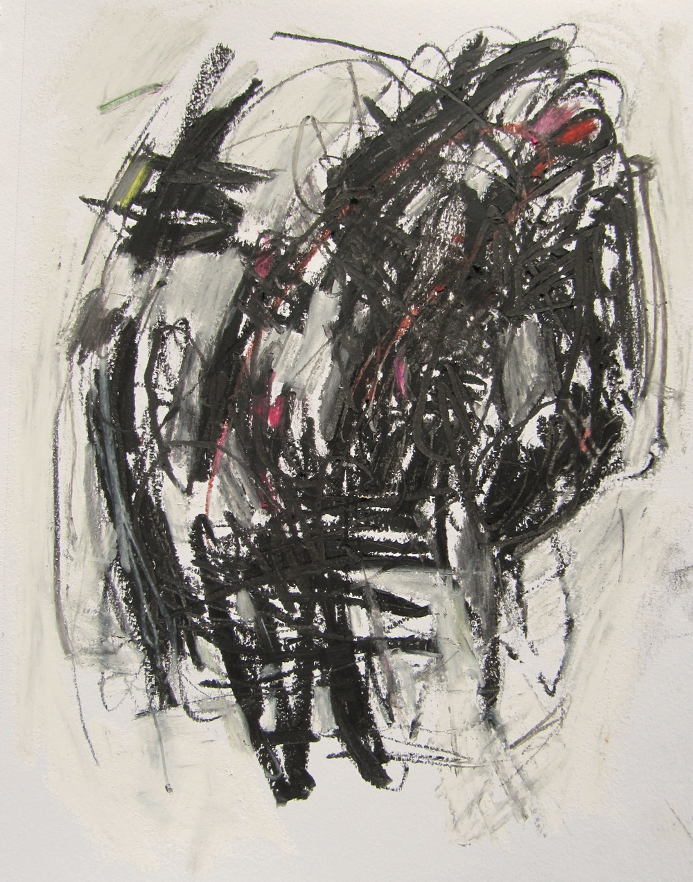 Untitled (for Joan), 2014  /  Pastel and charcoal on paper (unmounted and unframed), 9 x 12