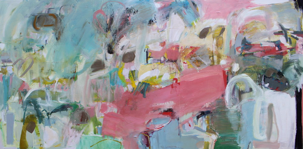 Everything at Once, 2016  /  Oil on canvas, 24 x 48/  SOLD